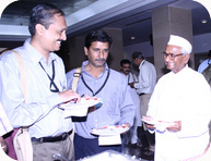 India Against Corruption - Gen Sec. Manoj Pai with Anna Hazare at CIC RTI Convention 2006